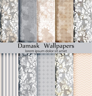 Damask patterns collection