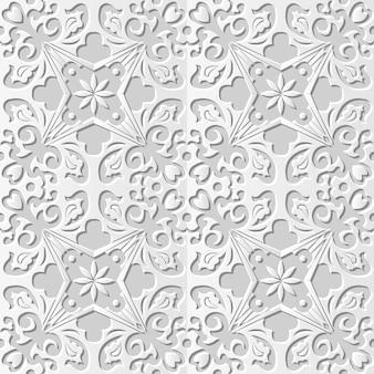 다 마스크 원활한 3d 종이 아트 크로스 나선형 꽃 덩굴