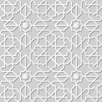 ダマスクシームレス3 dペーパーアートイスラム星クロスジオメトリ