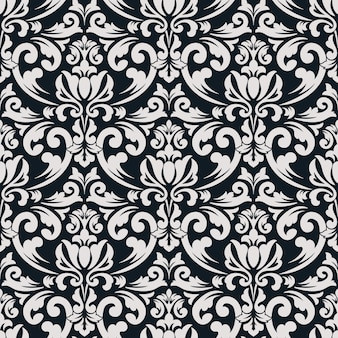 Damask seamless pattern background. classical luxury old fashioned damask ornament, royal victorian seamless texture for wallpapers, textile, wrapping. exquisite floral baroque template.