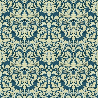 Damask seamless pattern background. classical luxury old fashioned damask ornament, royal victorian seamless texture for wallpapers, textile, wrapping.