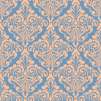 Damask seamless pattern background. classical luxury old fashioned damask ornament