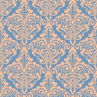 Дамасской бесшовный фон фон. классический роскошный старомодный дамасский орнамент