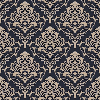 Damask seamless pattern background. classical luxury ornament wallpaper.