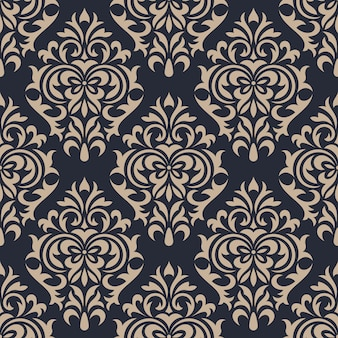 Damask seamless pattern background. classical luxury ornament wallpaper
