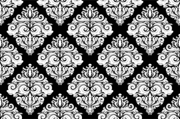 ダマスク織のシームレスなパターンの背景