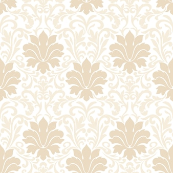 Damask seamless pattern. classical luxury old fashioned damask ornament, royal victorian seamless texture for wallpapers, textile, wrapping.