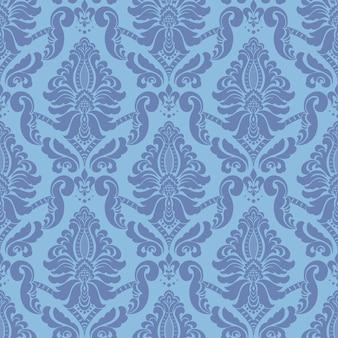 ダマスク織のシームレスパターン。古典的な豪華な昔ながらのダマスク織の飾り、王室のビクトリア朝のシームレスなテクスチャ