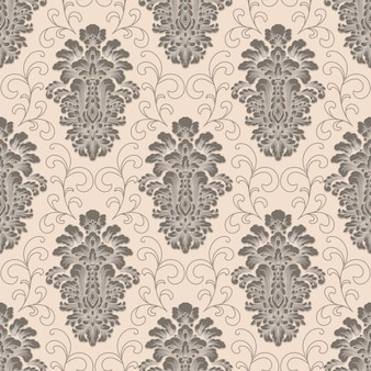 ダマスク織のシームレスパターン。古典的な豪華な昔ながらのダマスク織の飾り