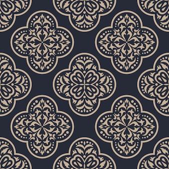 다 완벽 한 패턴입니다. 클래식 럭셔리 장식 벽지.
