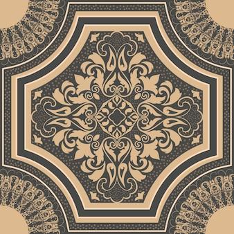다 완벽 한 패턴 요소입니다. 클래식 럭셔리 구식 다 마스크 장식