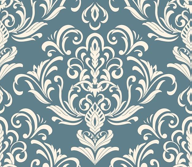 Elemento senza cuciture damascato. ornamento damascato di lusso classico vecchio stile