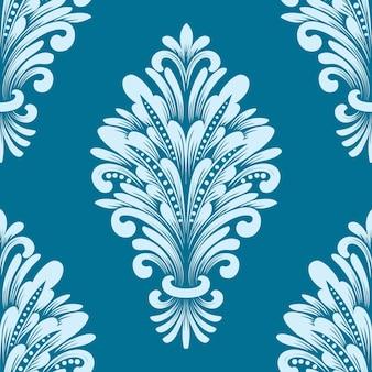 ダマスク織のシームレスなパターン要素。 無料ベクター