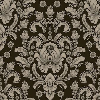 다마스크 원활한 패턴 요소
