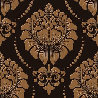 Damask seamless pattern element