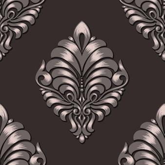 ダマスクシームレスパターン要素