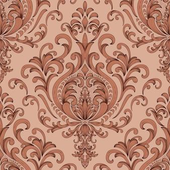 Damask seamless pattern element.