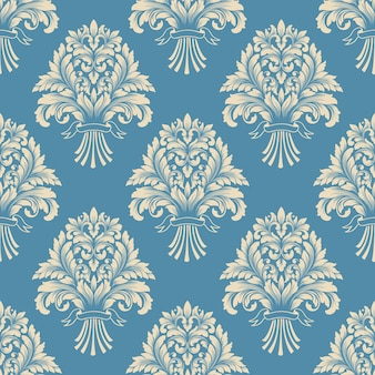 Damask seamless pattern ready to print. classical luxury old fashioned damask ornament