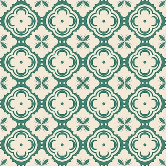 Damask seamless pattern with ornament