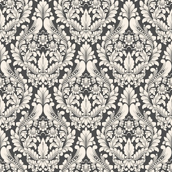 Damask seamless pattern