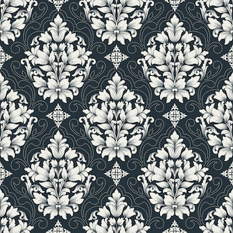 Damask seamless pattern .