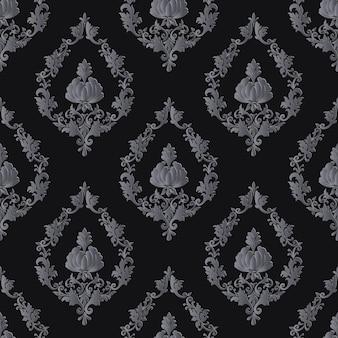 다마스크 원활한 패턴
