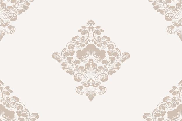 ダマスクシームレスパターン