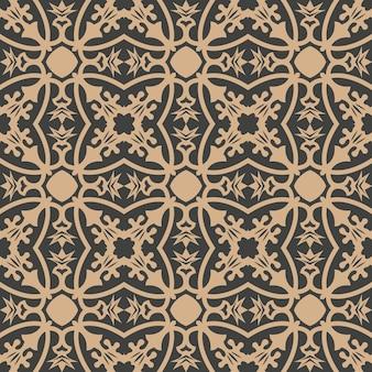 다 완벽 한 복고풍 패턴 배경 곡선 크로스 식물원 식물 꽃 프레임 포도 나무.