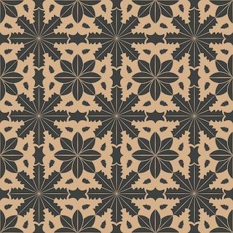 다 완벽 한 복고풍 패턴 배경 곡선 스타 크로스 식물원 꽃 프레임.