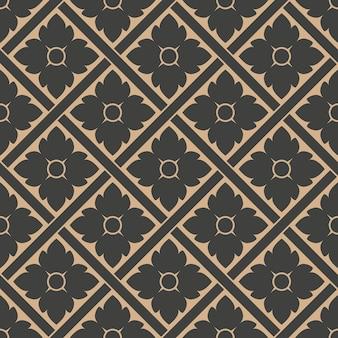 다 완벽 한 복고풍 패턴 배경 형상 체크 크로스 꽃 프레임.
