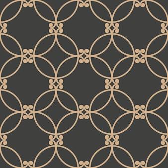 다 완벽 한 복고풍 패턴 배경 동양 라운드 커브 크로스 프레임 체인.