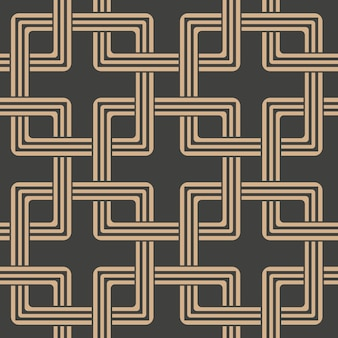 Damask seamless retro pattern background oriental square geometry cross frame chain.