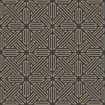 다 완벽 한 복고풍 패턴 배경 다각형 형상 크로스 프레임 라인.