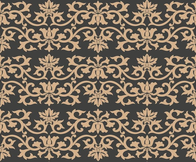 다 완벽 한 복고풍 패턴 배경 나선형 곡선 크로스 잎 식물 프레임 포도 나무 꽃.