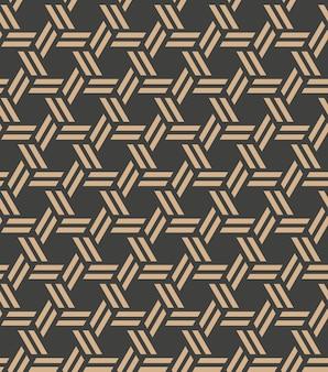 Damask seamless retro pattern background spiral polygon cross frame chain line.