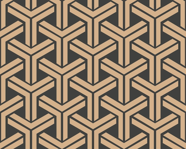 Damask seamless retro pattern background triangle geometry cross frame chain.