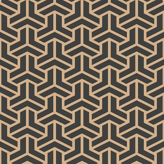 Damask seamless retro pattern background triangle geometry polygon cross frame chain line.