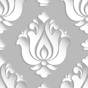 Damask styled ornamental illustration