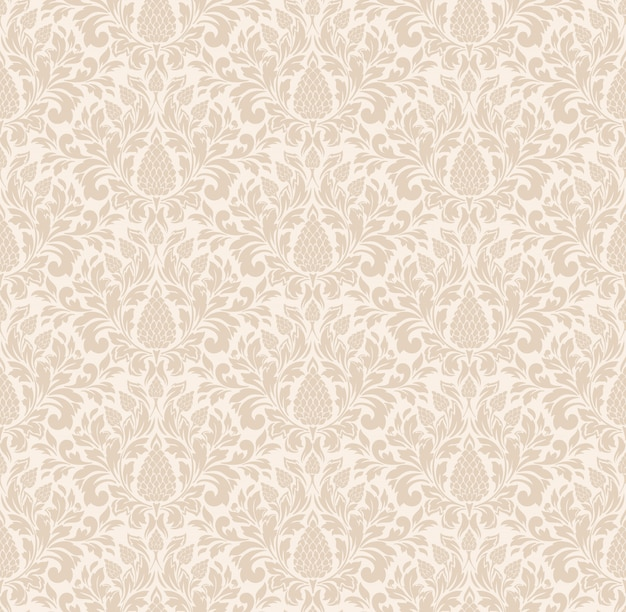 Damask styled ornamental pattern