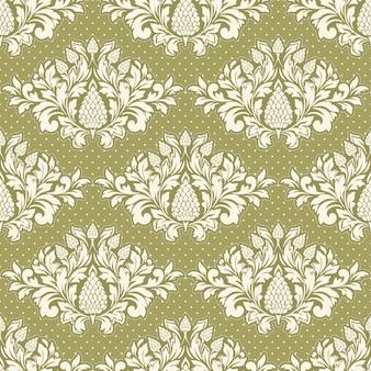 Damask styled ornamental pattern