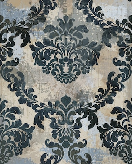 Damask texture grunge background