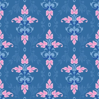 Damask vector classic pattern