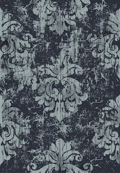 Damask vintage pattern. grunge . dark and light colors