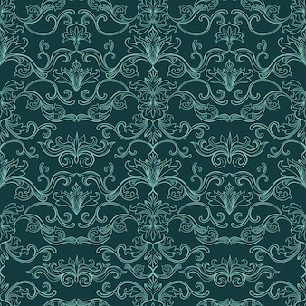 Damask vintage seamless pattern