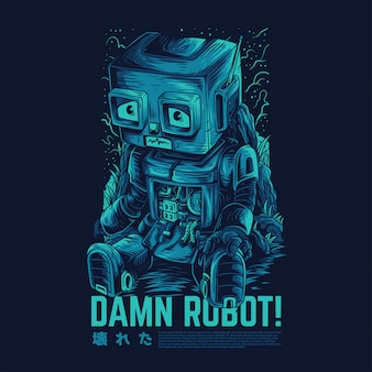 Damn robot remastered illustration
