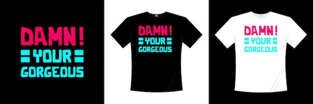 ゴージャスなタイポグラフィtシャツのデザイン