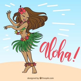 Sfondo di aloha di ballo