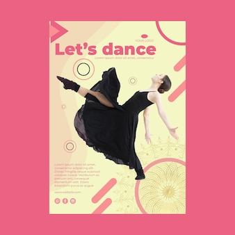 Dance class a5 flyer template with photo
