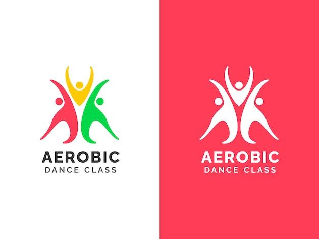 Концепция дизайна логотипа танцевального класса вектор