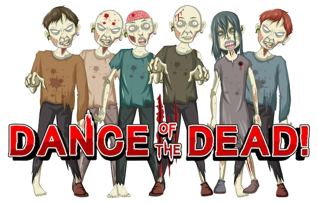 Dance of the dead with creepy zombies